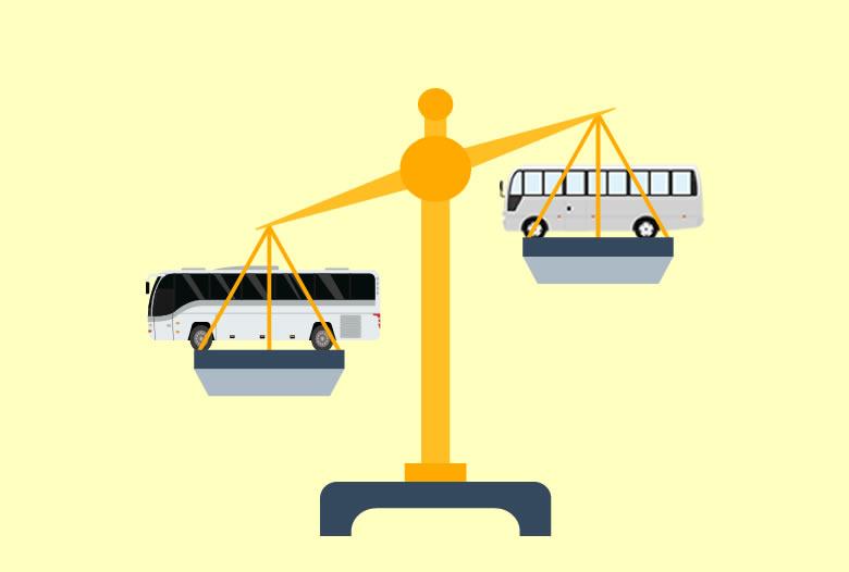 マイクロバスと中型バス料金比較