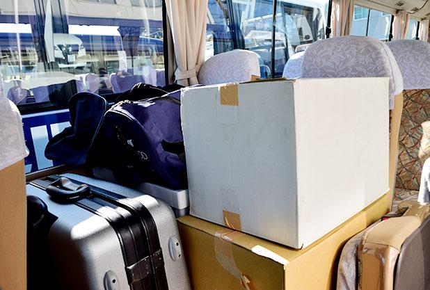 マイクロバスに荷物はのる?