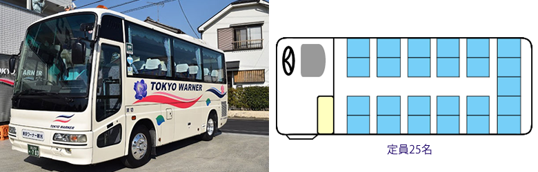 小型バスの座席表