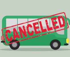 バスのキャンセル