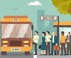 路線バスに乗る